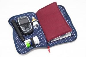 Gefüllte Tasche für Diabeteszuhör