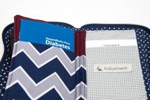 Tasche für Diabeteszubehör, Innenansicht