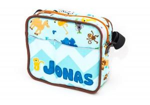 """Retro-Kindergartentasche mit Applikation """"Jonas"""" von Kubischneck"""