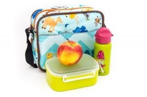 Kindergartentasche mit Brotdose und Trinkflasche